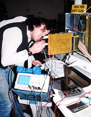 Telecom Valley - An engineer working on an Optilink Litespan in the late 1980s