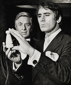 Sleuth (play) - Paul Rogers and Keith Baxter in the Broadway production of Sleuth (1971)
