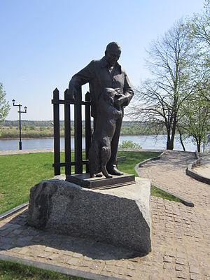 Konstantin Paustovsky - Monument of Paustovsky in Tarusa