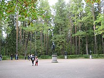 Pavlovsk. Pavlovsk Park. Center Twelve tracks..JPG