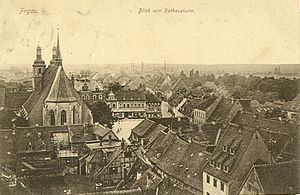 Pegau - Tower view of Pegau in 1914