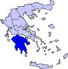 Η θέση της Πελοποννήσου στην Ελλάδα