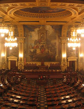 Pennsylvania General Assembly - Image: Pennsylvania State Capitol House Chamber