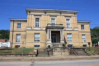 Cannelton Historic District - Former Perry County Courthouse, now a museum