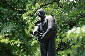 Petar Kočić - A statue of the writer in Petar Kočić park, Banja Luka