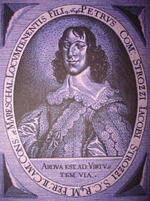 Strozzi family - Count Peter Strozzi (1626-1664), Austrian general, killed by the Ottomans during the Siege of Novi Zrin (1664)