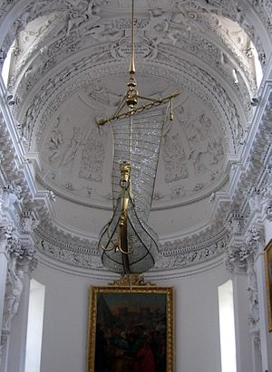 The Chandalier at the Sts. Peter & Paul's Cathedral in Vilnius, Lithuania