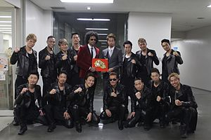 55th Japan Record Awards - Phekoo with Exile Backstage at the 55th Japan Record Award Show