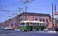 Philadelphia Brill trolley bus 228 turning at 23rd & Snyder (1968).jpg