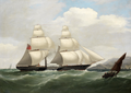 Philip John Ouless - A paddle sloop of Her Majesty's Navy under sail and steam entering the Tagus bound for Lisbon.png