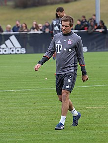 Philipp Lahm op de training in maart 2017