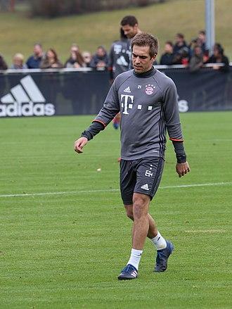 Philipp Lahm - Lahm with Bayern Munich in 2017