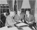 Photograph of President Truman with John J. McCloy, United States High Commissioner for Germany (center), and... - NARA - 200185.tif