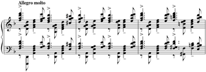 Piano Concerto No. 3 (Rachmaninoff) - A portion of the original cadenza (ossia)