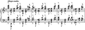 Piano Concerto No. 3 (Rachmaninoff) - A portion of the original cadenza (ossia)