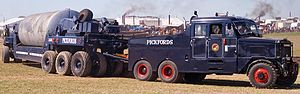 Pickfords - A Pickfords ballast tractor at the Great Dorset Steam Fair