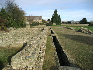 Piercebridge Roman Fort - The fort, showing the culvert