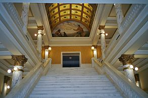 Inside Capitol (Pierre SD) White Marble ,June 2004