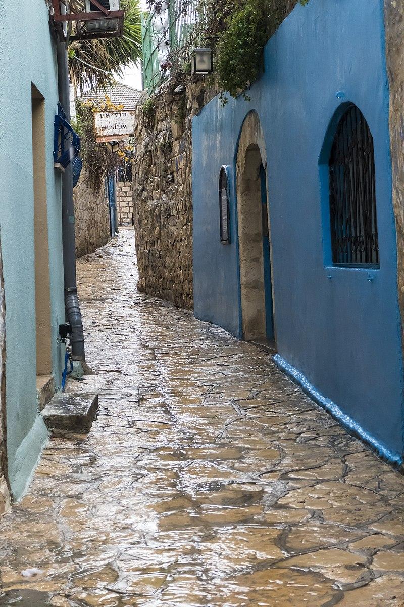 צפת העתיקה, סמטה בגשם