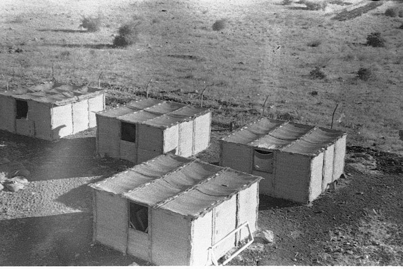 סוכות למגורים בקיבוץ, 1949