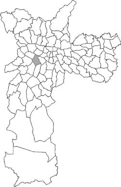 Location in the city of São Paulo