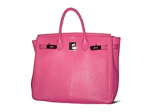 Birkin bag - Birkin bag made from calf leather that has been dyed pink