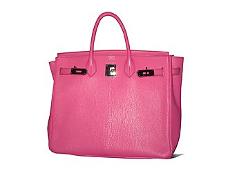 Common handbag in Polish is called a torba, a word directly derived from the Turkish language. Turkish loanwords are common as Poland bordered the Ottoman Empire for centuries Pink Birkin bag.jpg