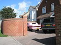Pink cadillac in London Road driveway - geograph.org.uk - 732571.jpg