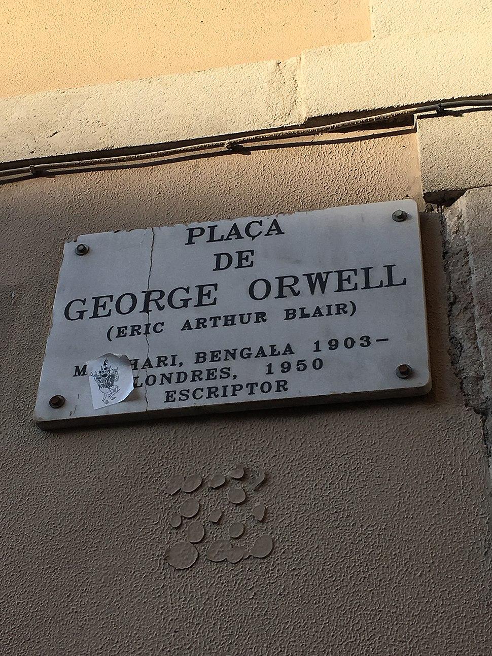 Placa de George Orwell in Barcelona 3