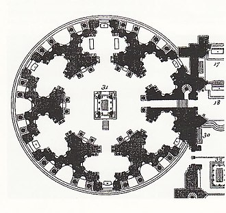 Catherine de' Medici's building projects - Plan of the Valois Mortuary Chapel