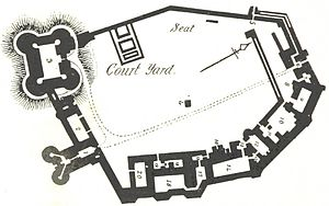 Dudley Castle - Image: Plan of Dudley Castle (1897)