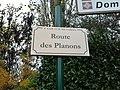 Plaque Route Planons St Cyr Menthon 2011-11-05.jpg