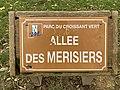 Plaque allée Merisiers Parc Croissant Vert Neuilly Marne 1.jpg