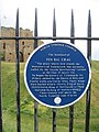 Plaque at Tynemouth Priory and Castle - geograph.org.uk - 2467576.jpg