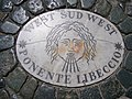 Plaque on Saint Peter's Square -West Sud West.jpg