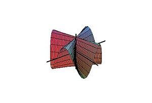 Plücker's conoid - Figure 3. Plücker's conoid with n = 4.