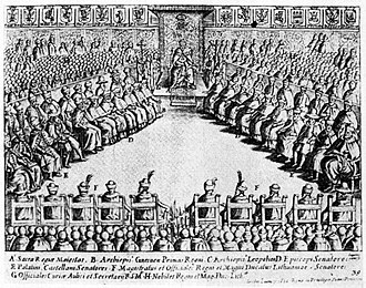 Seimas - Sejm session at the Royal Castle, Warsaw, 1622