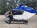 Politieheli landt bij bureau Gouda.jpg