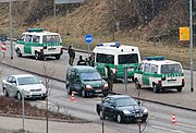Sobriety checkpoint in Germany.