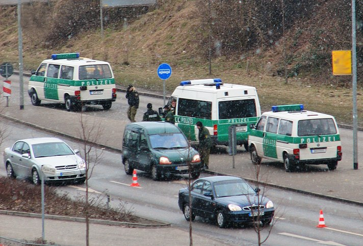 Polizeikontrolle Rügendamm