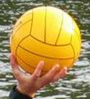 Water polo ball - Water polo balls are designed for ease of grip.