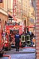 Pompiers pour une alerte au gaz rue Saint-Rome 02.jpg