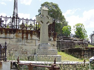 Pope Alexander Cooper - Pope Alexander Cooper's headstone at Brisbane's Toowong Cemetery.