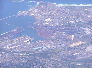 Port Kembla (seaport) - An aerial view of Port Kembla Harbour, looking southeast, 2008.