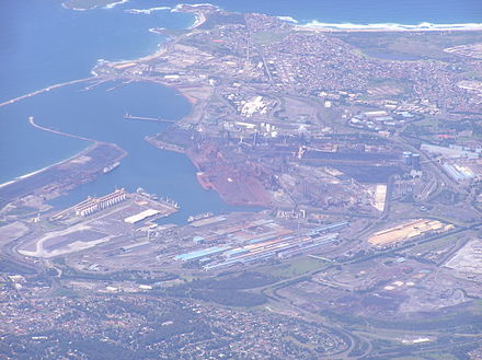 Aerial photo of Port Kembla from north west Port Kembla Aerial.jpg