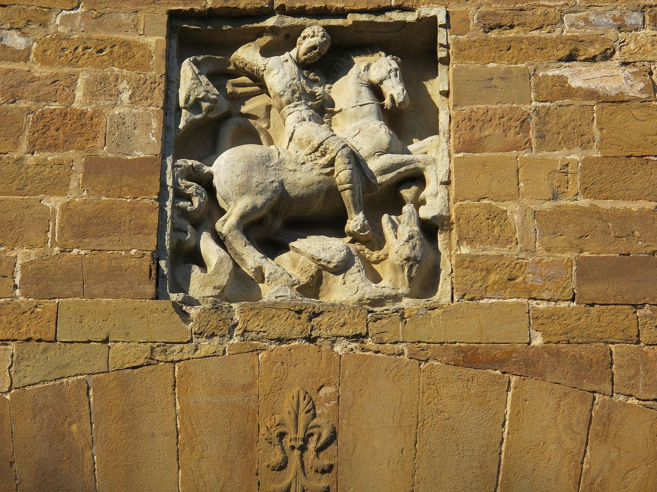 Porta San Giorgio, il bassorilievo, Firenze