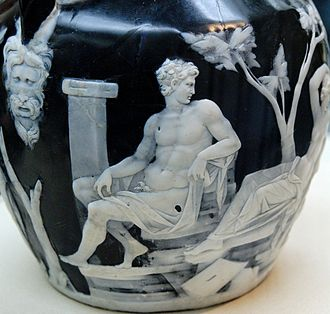 Portland Vase - Detail, with the figure who might be Octavian