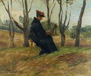 Henri Duhem - Marie Duhem Painting (1893)