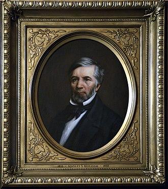 Kinsley S. Bingham - Portrait of Kinsley S, Bingham painted by Joshua Adam Risner in 2016.