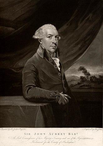 Sir John Aubrey, 6th Baronet - Portrait of Sir John Aubrey
